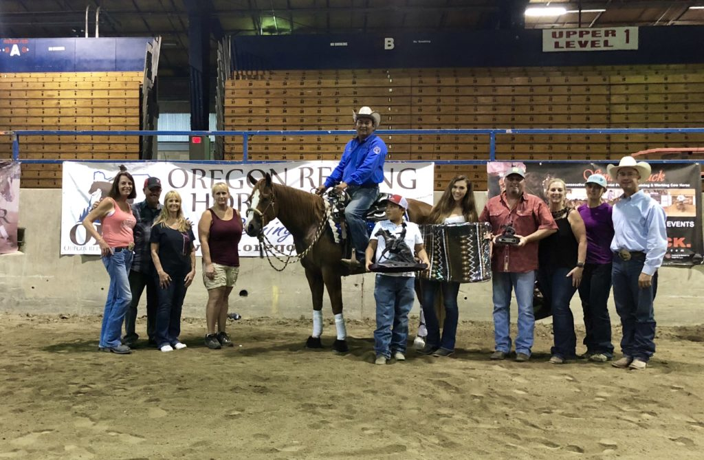 2018 ORHA Reining Classic Open Derby Champion Martin Padilla & Yolo Jersey owned by Sarah Curtis